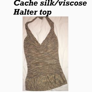 Beautiful silk and viscose top from cache sz S